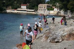 pêche à pied en classe de mer