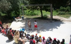 théâtre de plein air en classe de découverte