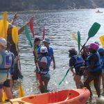 Kayak et jeux de plage